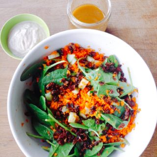 Low FODMAP Chili Vinaigrette Salad w/ Creamy Walnut Sauce
