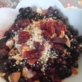 Blueberry Quinoa Breakfast Porridge