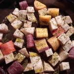 Roasted Celeriac & Rainbow Carrots (Low FODMAP, SCD, Vegan)