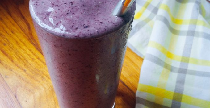 Blueberry Banana Smoothie (Low FODMAP, GF, Vegan)