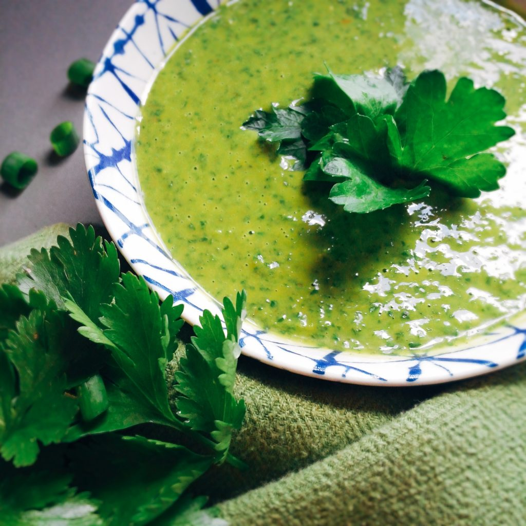 Low FODMAP Spicy Chimichurri Sauce