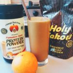 Chocolate Orange Smoothie (Low FODMAP, GF, Vegan)