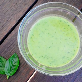 Sweet Basil Vinaigrette SIBO Friendly Dressing