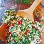 Pomegranate Celeriac Salad (Low FODMAP, SCD, Vegan)
