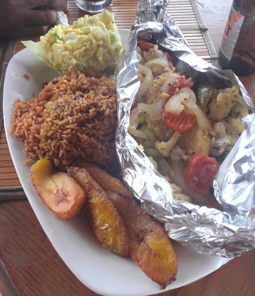 Grilled Snapper from Goldie's Conch House Bahamas