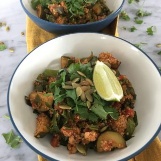 Bowls of 1-Pot Low FODMAP Turkey Quinoa Skillet