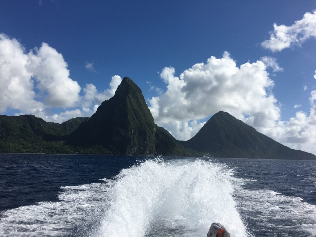Photo of the Pitons in St Lucia to represent hope